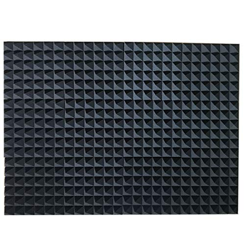 - 12 Pack Set Acoustic Foam Panels, Studio Wedge Tiles, 2