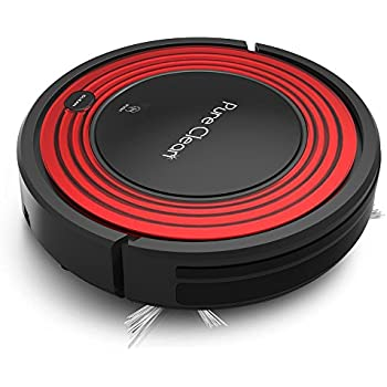 Pure Clean Automatic Robot Vacuum - Programmable Cleaner Robotic Auto Home for Clean Carpet Hardwood Floor w/ Self Activation and Charge Dock - Pet Hair & Allergies Friendly - PUCRC95