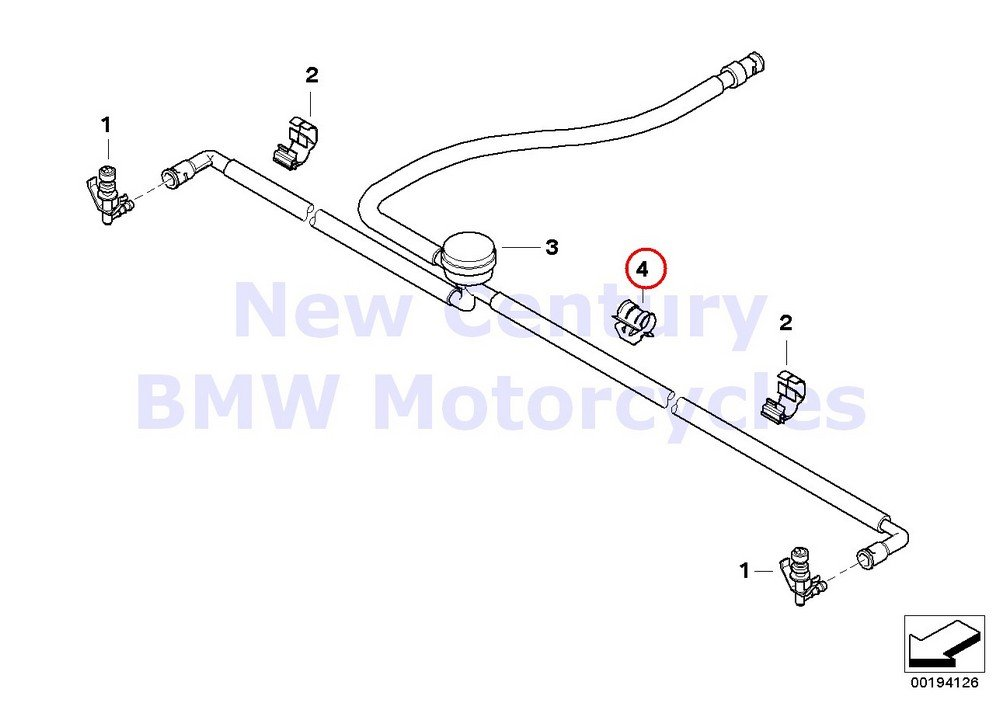 BMW Genuine Motorcycle Cable Wire Line Clip Holder R1200GS R1200GS Adventure R1200RT R900RT HP2 Sport R1200S K1200GT K1300GT R1200GS R1200GS Adventure R1200RT