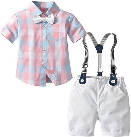 AEPEDC Camisa a Cuadros Rosa Ropa para niños Conjunto de Ropa ...