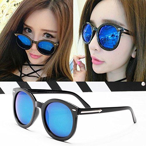 nouveau cycle des lunettes de soleil madame le visage rond korean rétro - yeux star des lunettes des lunettes de soleil la maréeboîte noire film bleu (sac) 86axK8