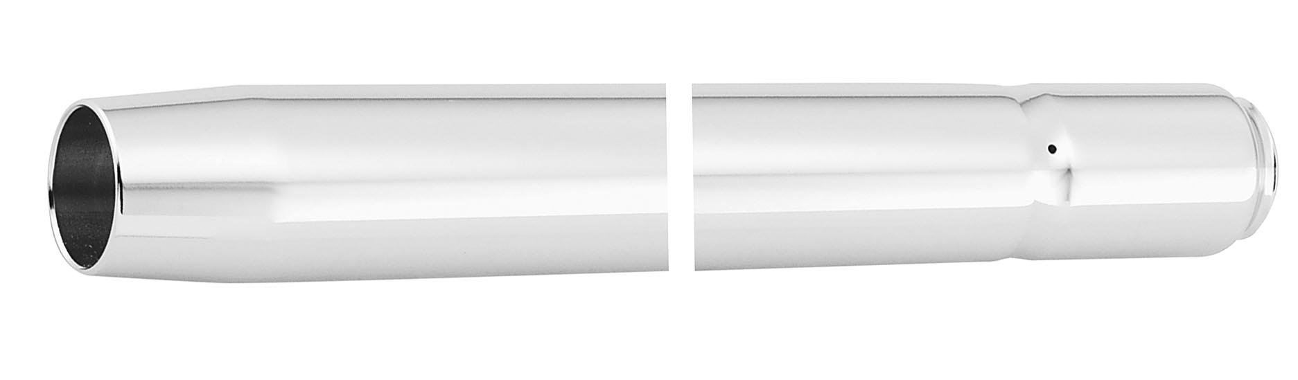 Custom Cycle 39mm Show Chrome Fork Tubes - 26.25in. T1346