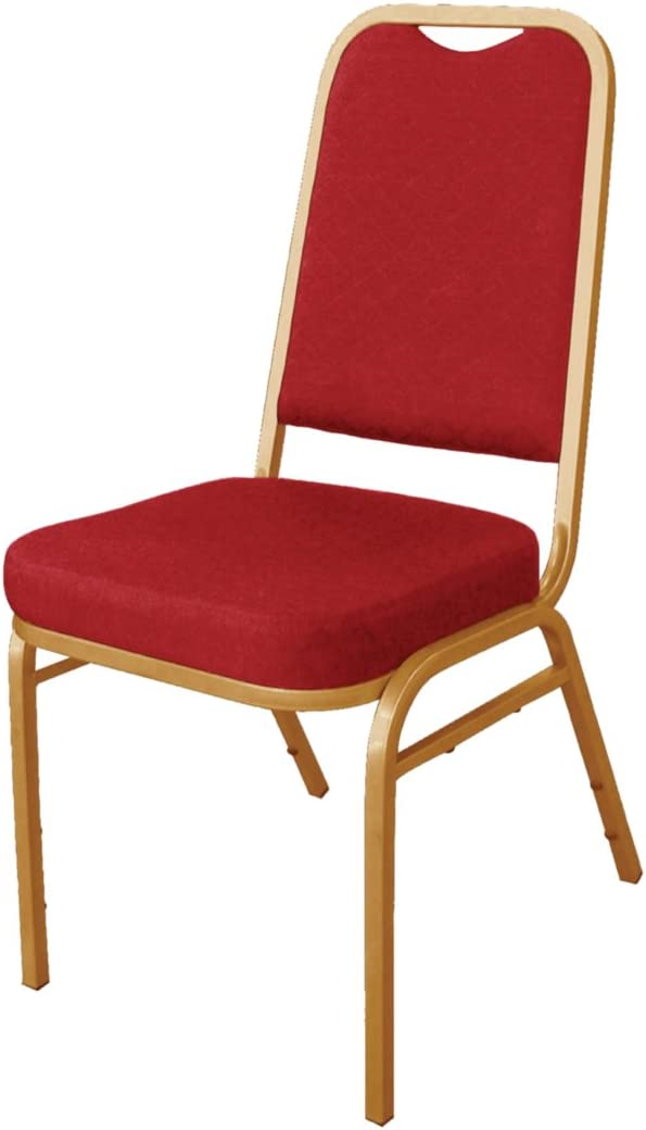 Pack of 4 Bolero DL015 Banqueting Chair Squared Back Blue