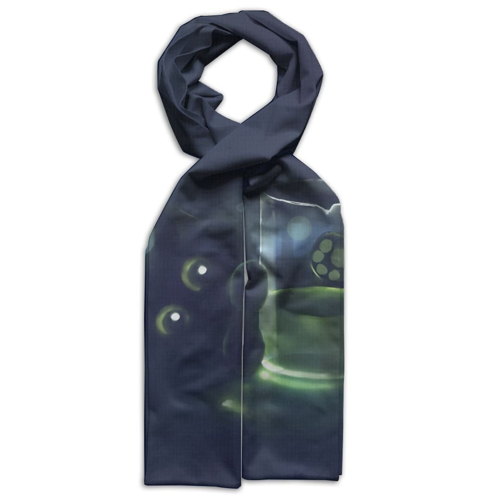 HFIUH5 Green Cat And Glasses Printing Scarf Warm Soft Fashion Scarf Shawl For Spring Autumn Winter Kids Boys Girls