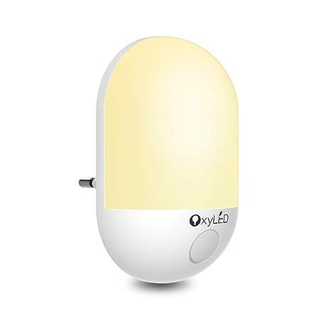Veilleuse LED Enfant, OxyLED Lampe nuit murale éclairage bébé avec capteur crépusculaire automatique économiser d'énergie pour chambre d'enfants,