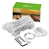 #4: LE LED Window Curtain Lights, 300 LED, 9.84ft x 9.84ft, 8 Modes, USB & Battery Powered String Fairy Light with Remote Control, Warm White, String Light for Christmas/Halloween/Wedding/Party