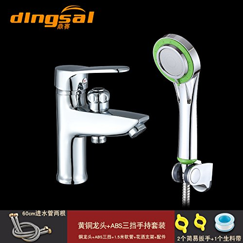 ETERNAL QUALITY Bathroom Sink Basin Tap Brass Mixer Tap Washroom Mixer Faucet All copper single hole basin mixer with shower basin Washbasin Faucet cold water double-tap