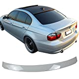 window ac fitting - Pre-painted Roof Spoiler Fits 2006-2011 E90 3 Series 4Dr | AC Style Painted Alpine White III #300 ABS Rear Wing Window Roof Top Spoiler other color availble by IKON MOTORSPORTS | 2007 2008 2009 2010