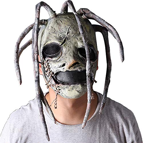 Corey Taylor Full Head Latex Mask with Dreadlocks Slipknot Fancy Dress Halloween Cosplay Music Party Prop -
