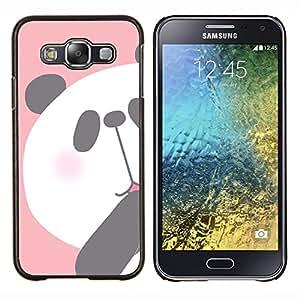 Dragon Case - FOR Samsung Galaxy E5 E500 - panda kids drawing pink white bear - Caja protectora de pl??stico duro de la cubierta Dise?¡Ào Slim Fit