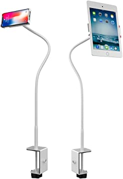 360º turn Bed Tablet Mount Holder Stand iPad 2,3 Samsung Galaxy P1000 Silver