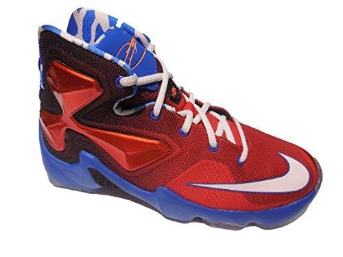 Boys Nike LeBron 13 GS Basketball Shoes Bright Crimson 808709-614 (6.5Y)