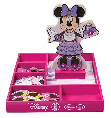 51qlwSwqzML - Melissa & Doug Disney Minnie Mouse Magnetic Dress-Up Wooden Doll Pretend Play Set (35+ pcs)