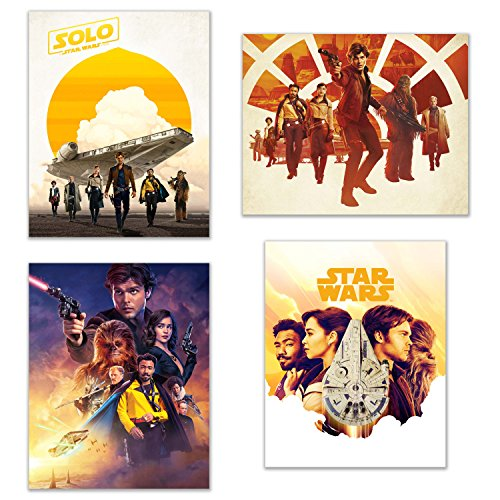 BigWig Prints Han Solo Movie Posters - Set of 4  Photos of t