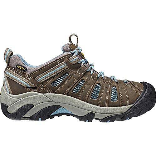 KEEN Women's Voyageur Hiking Shoe, Brindle/Alaskan Blue, 11 M US by KEEN
