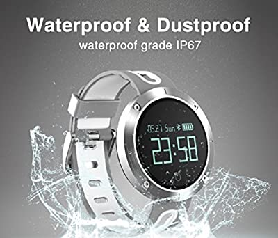 Fatmoon Fitness Tracker, Activity Monitor Sleeping Management Heart Rate monitor Blood pressure Tracker Pedometer Smart Bracelet with IP67 Waterproof OLED Touch Screen for Android and iOS
