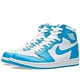 Air Jordan Retro 1 High OG Sneakers UNC QS White Powder Blue 555088-117