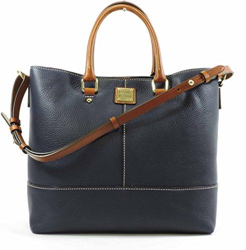 Pebble Leather Shopper (Dooney & Bourke Pebble Grain Chelsea Convertible Shopper,Midnight Blue)