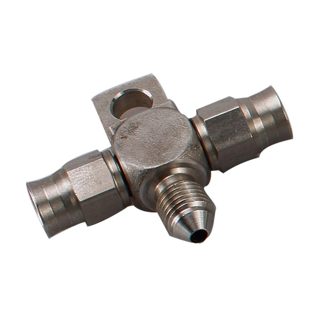 Stainless Steel 3 AN Male Flare Bulkhead Brake Hose Fittings with AN3 Stainless Bulkhead Lock Nut 3 AN Male to