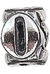 Zable Sterling Silver Number 0 Bead Charm