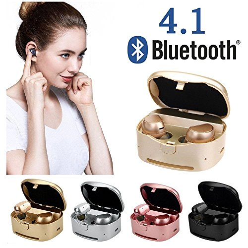 Price comparison product image Earphone for Galaxy Note 8,Businda Wireless Earphones with Charging Box Noise Cancelling Sweatproof Mini Headset for iPhone iPad Samsung Tablets All Bluetooth Device