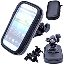 """Geekercity Sport 360 Degree Rotating Bike Bicycle Motorcycle Handle Bar Racks Holder Cradle Handlebar Mount + Smartphone Cellphone Bag Case Pouch for Apple iphone 6 Plus 5.5"""" Samsung Galaxy Note 3/Note 4/N9006/N9100 other MP3 MP4 GPS Cellphones Smartphones [Case Internal Dimension: 1609025mm] Keeps Your Phone Safe and Secure When Out On The Road, Water Resistant, Touch Screen Works thru the Case, Rotates Both Horizontal and Vertical"""
