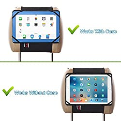 "Tfy 9-inch To 10.1-inch Tablet Pc Car Headrest Mount, Fast-attach Fast-release Edition, For Ipad Pro 9.7"" & Other 9 - 10.1 Inch Tablet Pcs, Black"