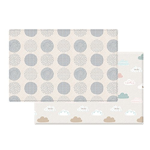 Parklon Pure Soft Mat in Blue Spot and Cloud Bebe, Large by Parklon