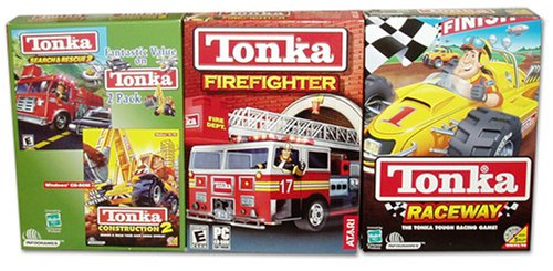(Tonka Firefighter, Raceway, Construction 2 and Search and Rescue 2)