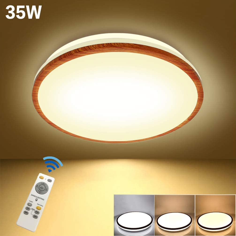 DLLT Flushmount Led Ceiling Lights,2800LM-Dimmable Kitchen Light Fixtures,35W-Remote Ceiling Light for Living Room, Bedroom, Dining Room,3000-6000K Color Change