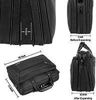 41f7c56c1049 Kopack Laptop Briefcase Expandable Large Capacity 15.6 Inch Laptop Bag  Water Resistant Scratch-resistant Nylon Shoulder Computer Bag Black