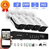 Cheap 1080P Security Camera System,Safevant 4CH CCTV Camera Security System(NO Hard Drive) with 4pcs 1080p Indoor&Outdoor Security Cameras with Night Vision,Plug&Play,No Monthly Fee