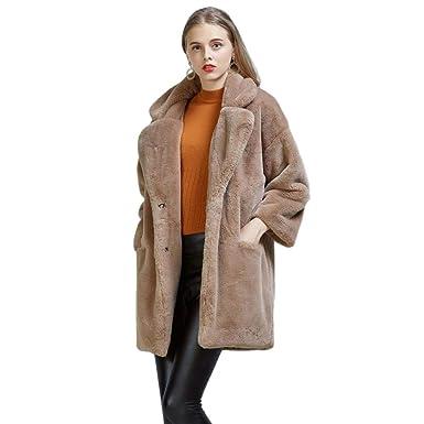 Damen mantel mit kunstfell