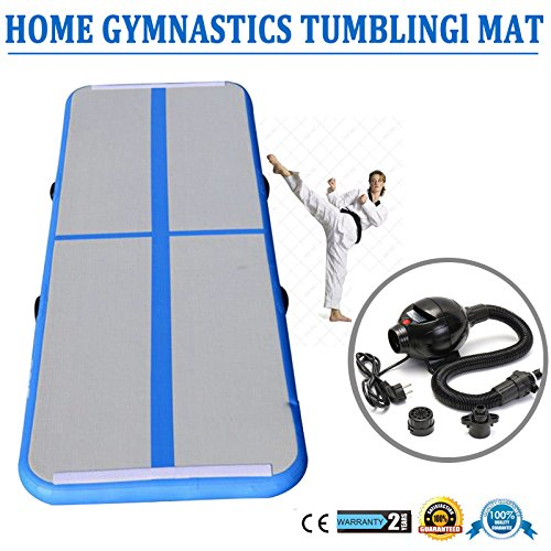 SHZOND 10'x3' Pro Inflatable Air Track Tumbling Mats Gymnastic Air floor Mat Tumbling Floor Mat/Air Box/Home Edition with Pump
