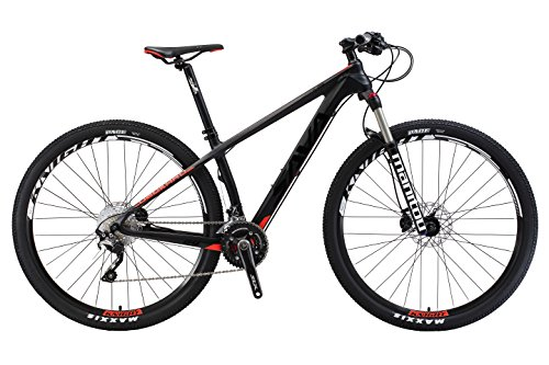 Carbon Frame mountain bike 30 Speed (black red, 17