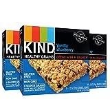 KIND Healthy Grains Granola Bars, Vanilla Blueberry, Gluten Free, 1.2oz Bars, 15 Count