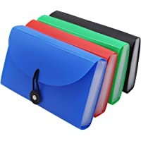 "SEEKIND Expanding File Folders 4 Pack, 7.1""4.2"" Receipt Organizer Folder Accordion Folder Document with 13 Pocket for…"