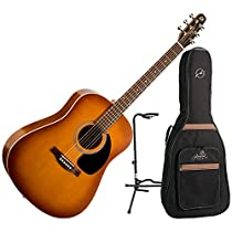 Seagull Entourage Rustic Acoustic Guitar w/Seagull Gig Bag and Guitar stand
