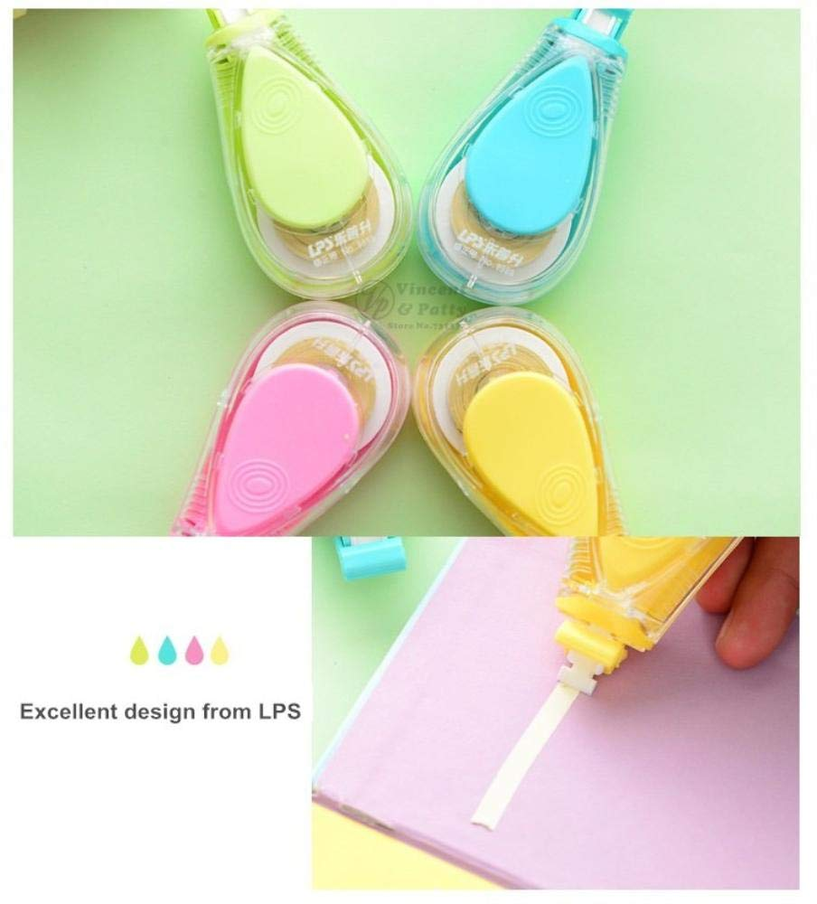 12 pcs/Lot Macaron color Water drips Correction tape LPS tapes stationery corretivo escolar fita Office supplies by PomPomHome (Image #5)