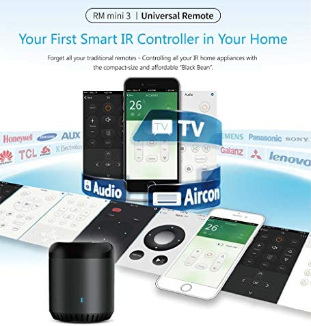 Broadlink RM-Mini3 Black Bean – WiFi/IR Smart Home Hub Box Control inteligente de aplicación – Soporte 80.000 + IR Controlled Home Dispositivos TV, aire acondicionado, DVD: Amazon.es: Electrónica