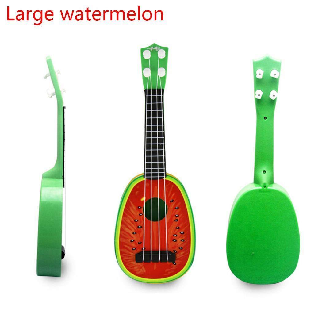 Murieo Kinder Ukulele Kindergitarre Simulation Frü chte Geformte Gitarre Spielzeug Mini Musikinstrumente Spielzeug (2)