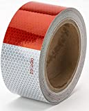 Starrey Reflective Tape Roll 2''X10' DOT-C2 Approved - Waterproof Red White Conspicuity Tape - Self-Adhesive PET Safey Warning Tape - 2 inch DOT Tape for Trucks Trailers Autos