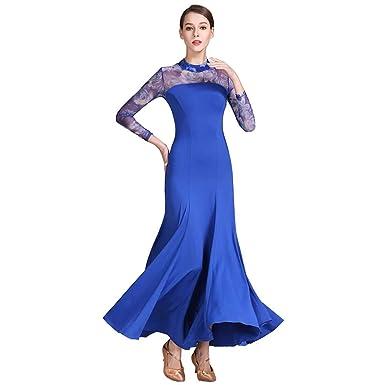 c3c1cf04115fe YTS Nylon Long-Sleeved Modern Dance Skirt, Women's Four Seasons Green Dress  (Color