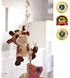 MiniOwls Multipurpose Storage Chain - White 6ft Toy Organizer with 20 Clips for Home or Store Display-Nice & Easy way to Exhibit Toys Plush Animals Art & Collectibles Caps Hats Bags or other Accessories- 3% Donated to Autism Society.