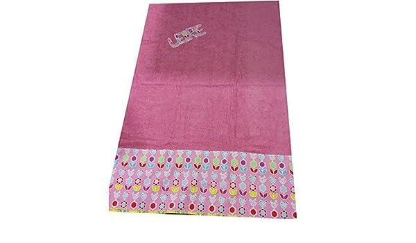 toalla playa 100x150 rosa gallinitas personalizada con nombre: Amazon.es: Handmade