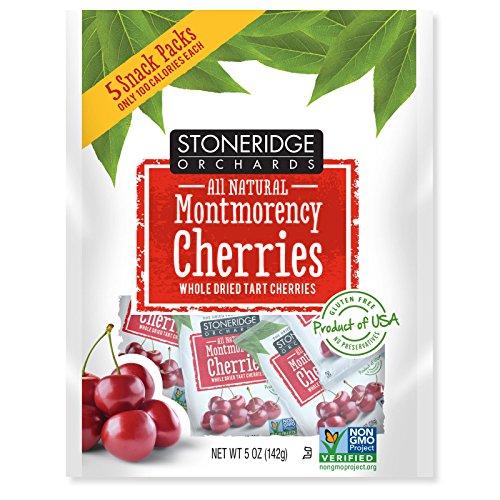 Stoneridge Orchards  Montmorency Cherries  Whole Dried Tart Cherries  5 Packs  1 Oz  28 G  Each   2Pcs