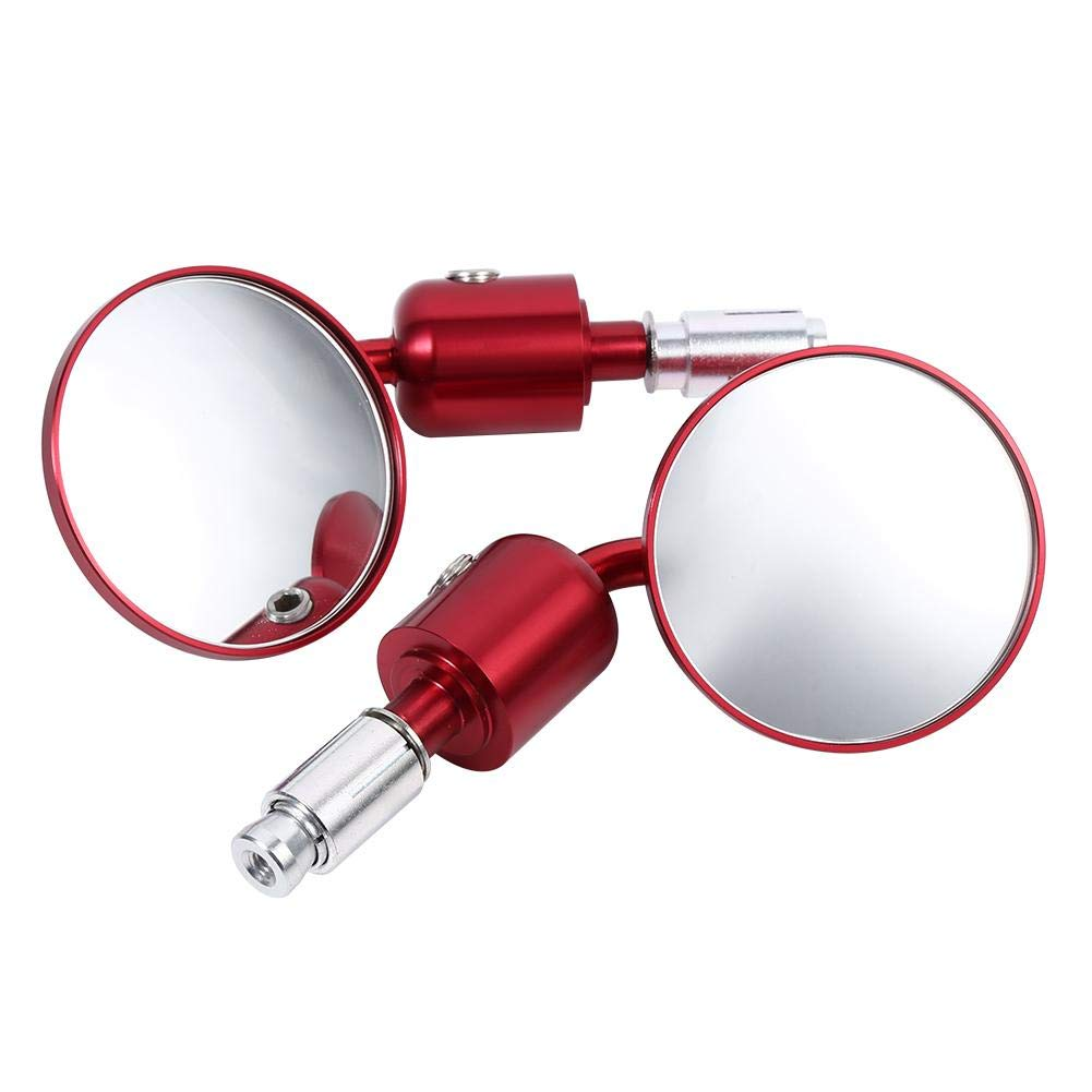 Nero 1 paio da 7//8 pollici Rotondo Manubrio Bar End Specchi retrovisori Moto Moto Sidemirror Specchi retrovisori