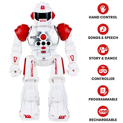 Robots For 4 Year Olds (Boley 2099 RC Remote Controlled Robot for Kids - Intelligent Programmable with Infrared Controller Toys, Dancing, Singing, Talking Robot Friend Kids -)