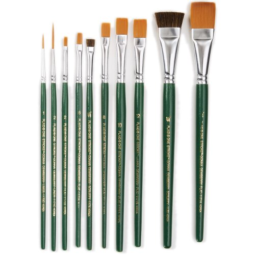 One Stroke Brush Set, 1059 (10-Pack)