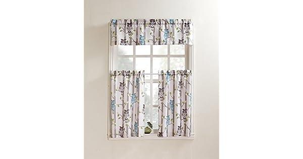 Amazon.com: No. 918 Hoot - Par de cortinas de cocina, diseño ...